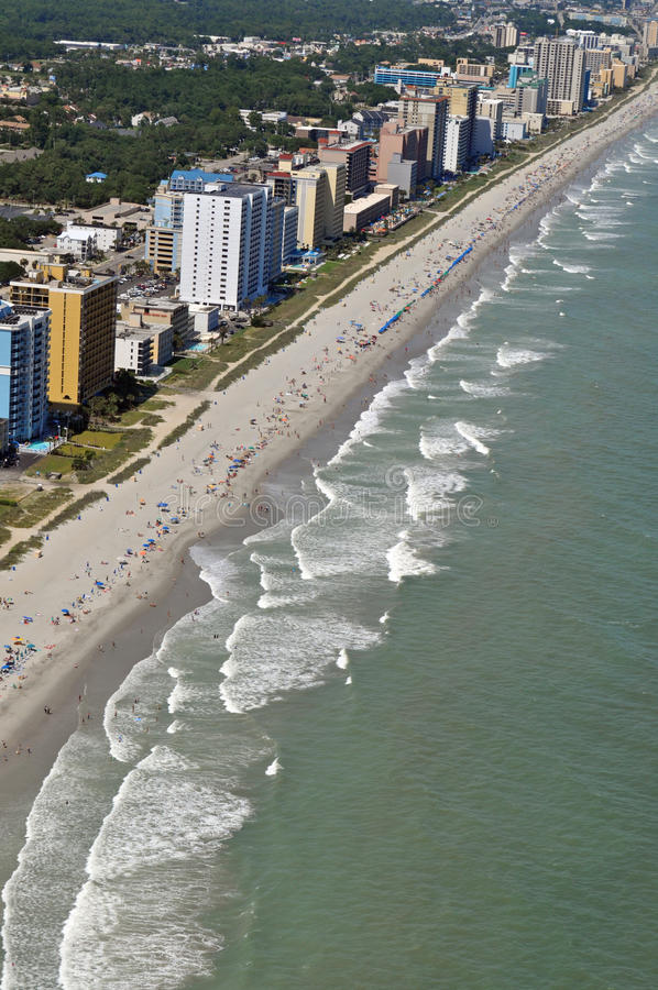 Littoral de Myrtle Beach photo libre de droits