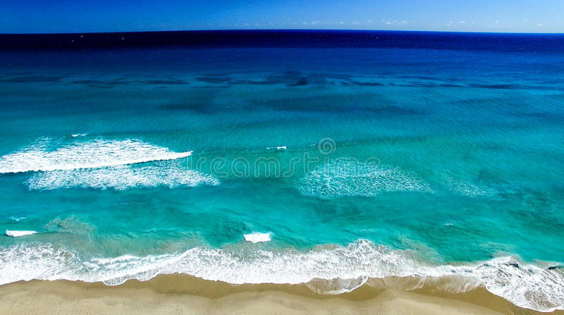Littoral de Palm Beach, vue aérienne de la Floride photo libre de droits
