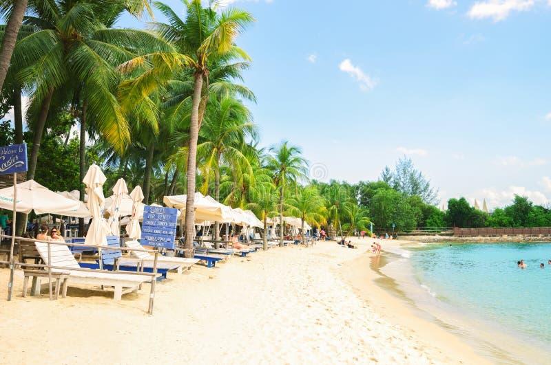 littoral de plage de siloso sur l u0026 39  u00eele-h u00f4tel de sentosa  u00e0 singapour photo stock  u00e9ditorial