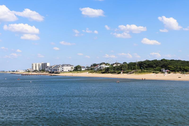 Littoral de plage de vue d'océan en Norfolk, VA photos libres de droits