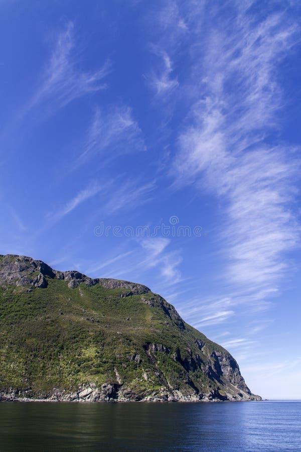Littoral de Terre-Neuve, cirrus nuages images libres de droits
