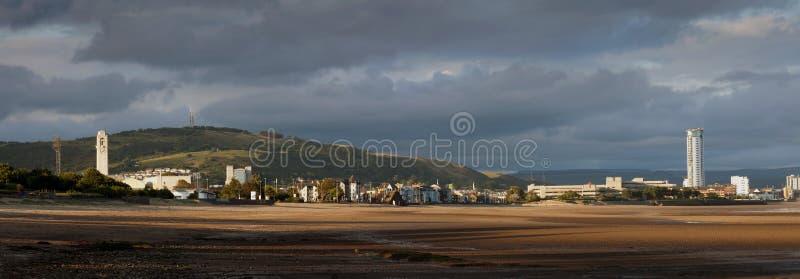 Littoral de ville de Swansea photos stock