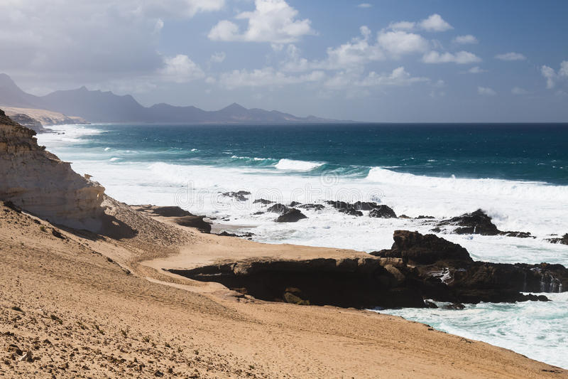 Littoral du nord de Jandia, Fuerteventura images stock