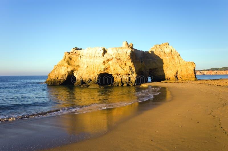 Littoral du Portugal Algarve photographie stock
