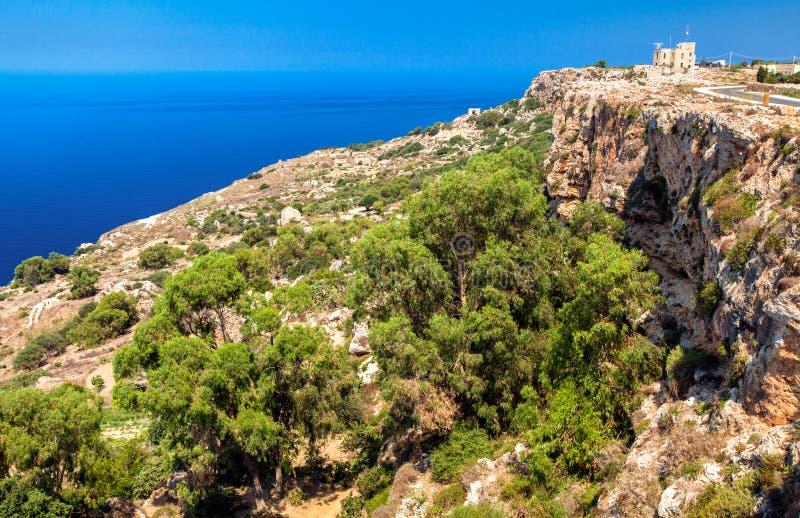 Littoral en île de Malte photographie stock