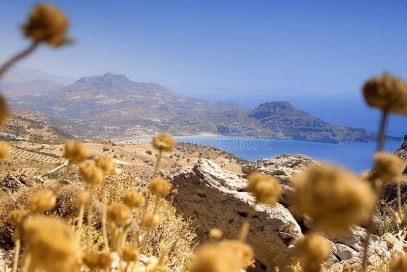 Littoral en Crète photographie stock