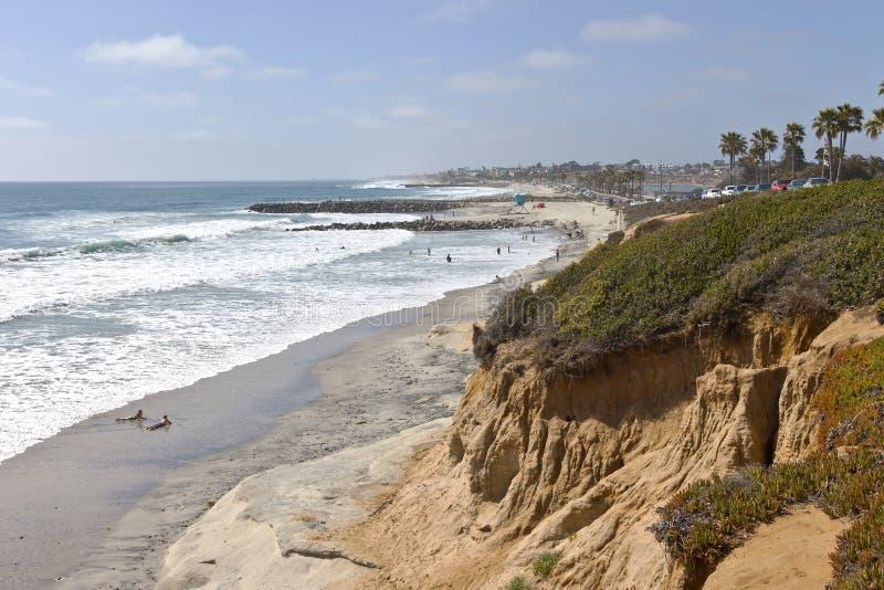 Littoral et plages de la Californie. photo stock