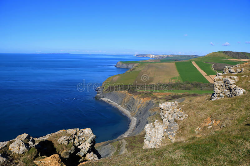 Littoral jurassique, Dorset, R-U photographie stock libre de droits