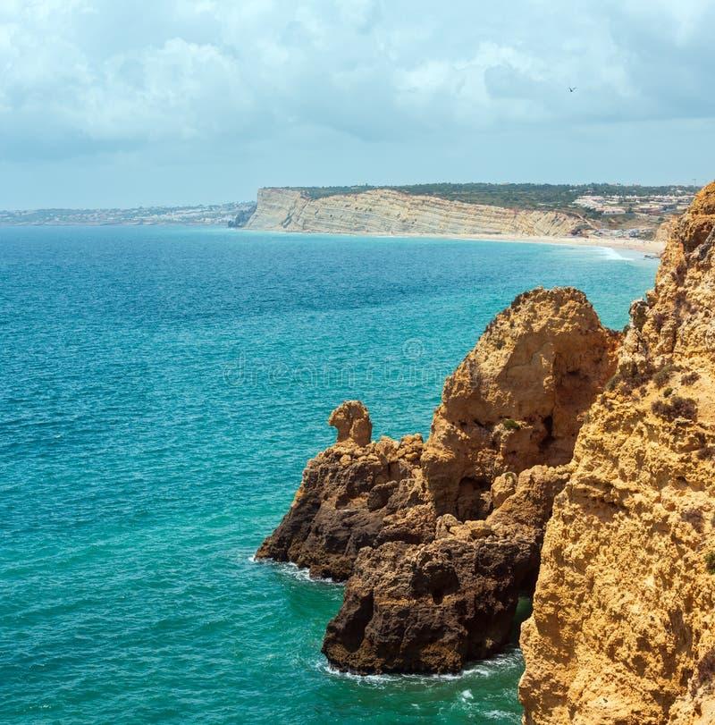 Littoral rocheux atlantique Ponta DA Piedade, Lagos, Algarve, port photos libres de droits