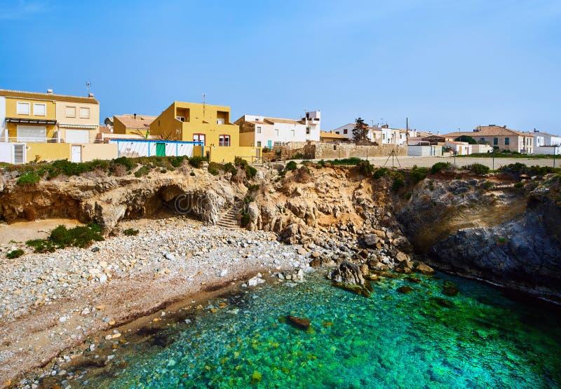 Littoral rocheux d'île de Tabarca l'espagne photo stock