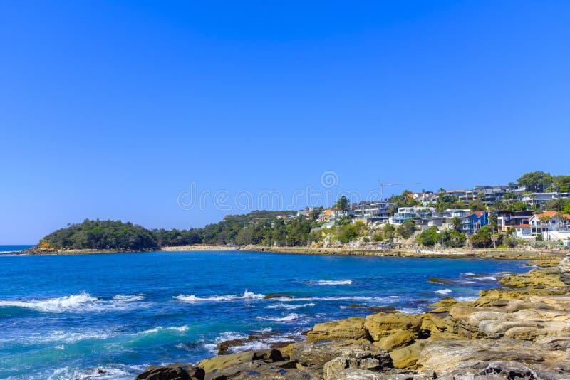 Littoral rocheux dans viril, Australie photographie stock libre de droits