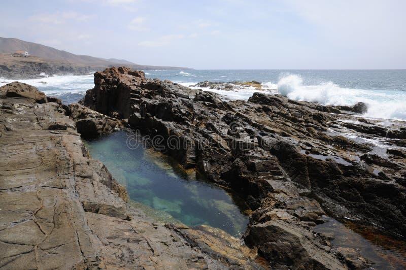 Littoral rocheux, Fuerteventura image libre de droits