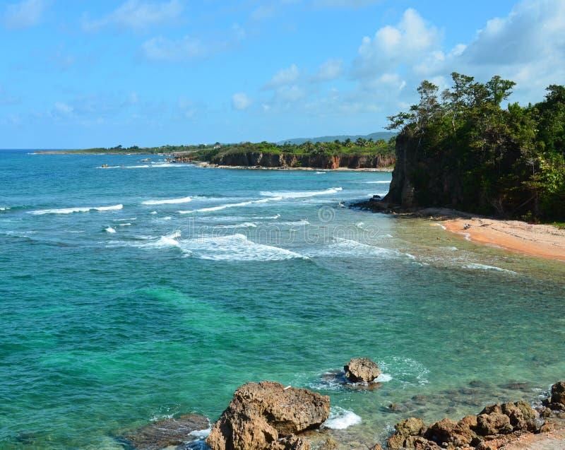 Littoral tropical érodé image stock