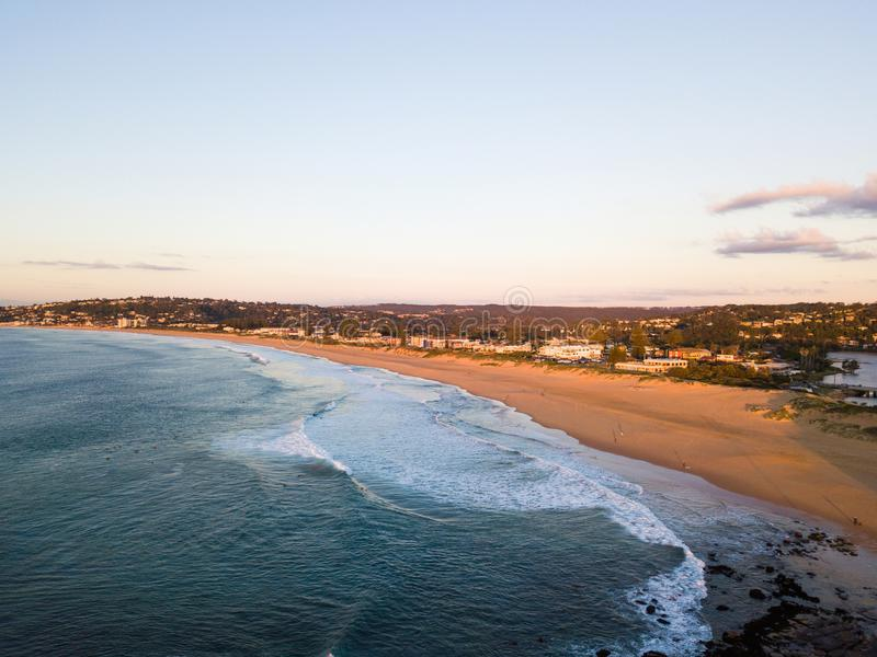 Littoral vide de plage photo stock