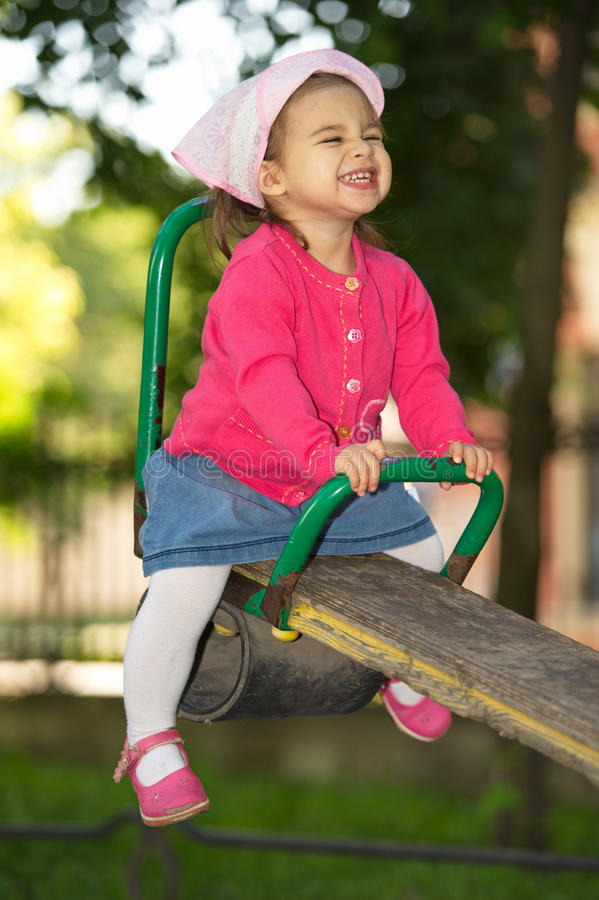 Litttle Girl At Playground stock image