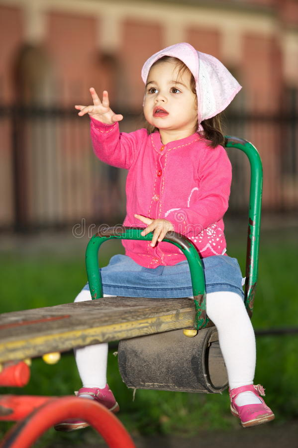 Litttle Girl At Playground royalty free stock photography