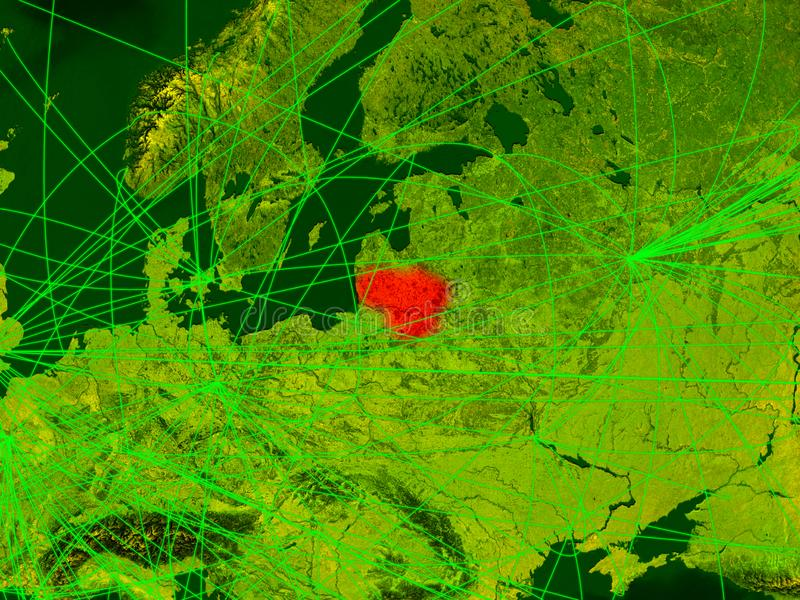 Lituânia no mapa digital ilustração do vetor