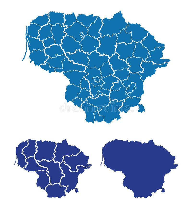 litwa mapa royalty ilustracja