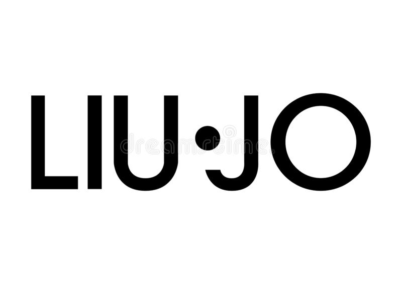 Liu Jo logo. Fashion, style, clothes, perfume, shoes, luxury, milan, paria, paris, new, newyork royalty free stock photos