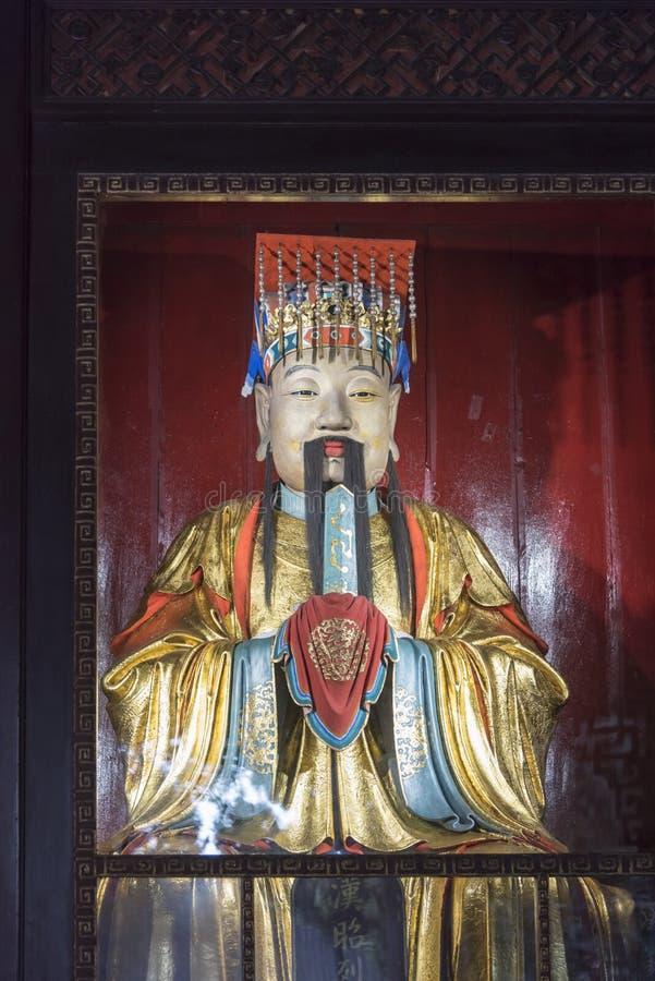 Liubei statue stock photo