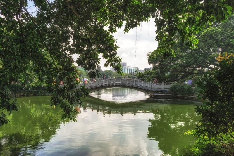 Liuhuahu公园在广州 图库摄影