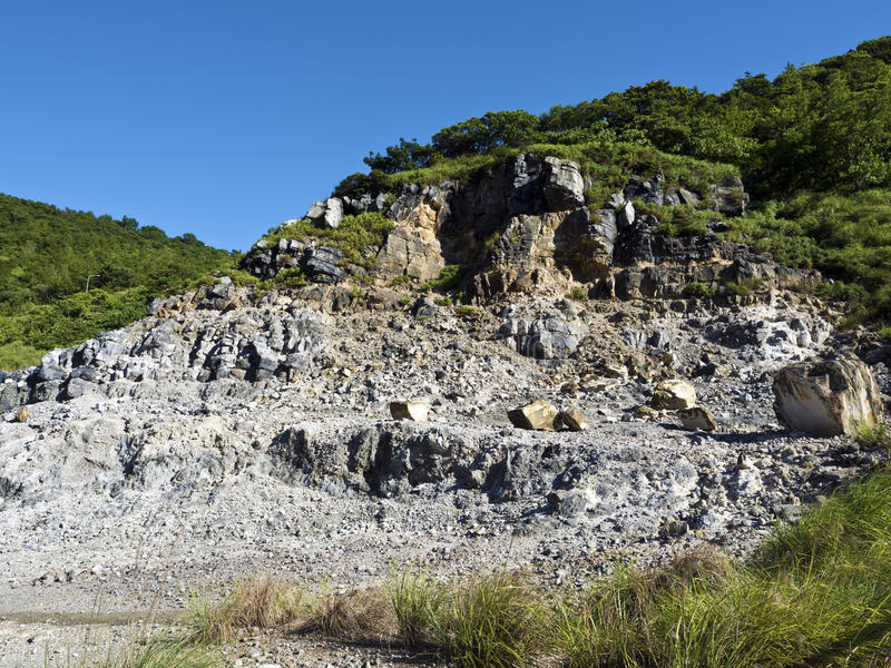 Liuhuangku geotermiczny sceniczny teren, Taiwan obraz stock