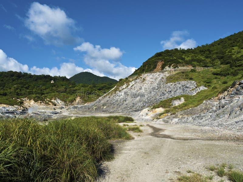 Liuhuangku geotermiczny sceniczny teren, Taiwan fotografia stock