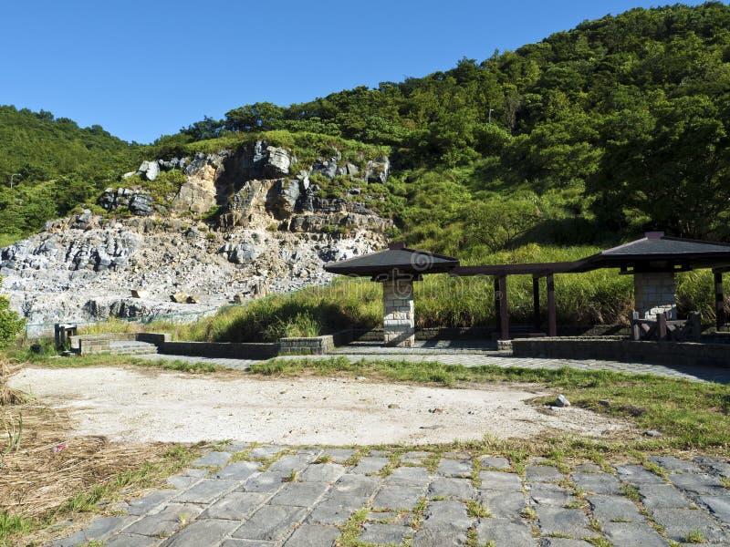 Liuhuangku geotermiczny sceniczny teren, Taiwan obrazy stock