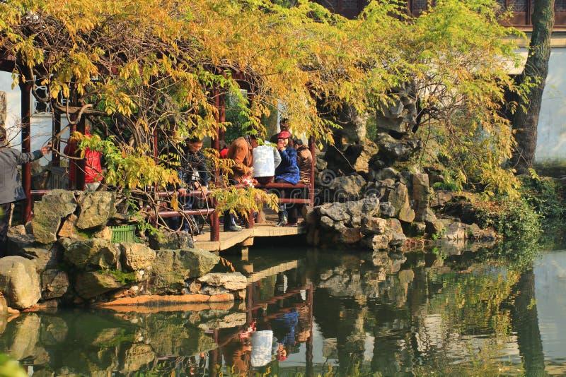 Liuyuan garden at autumn royalty free stock photo