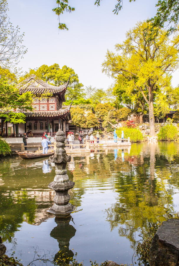 Liuyuan(Lingering) Garden-One of Chinese classical garden in Suzhou City royalty free stock images