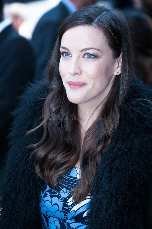 Liv Tyler na semana de moda de Paris imagens de stock