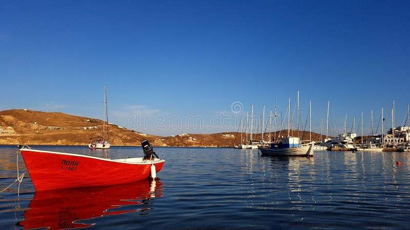 Livadhi marina na Serifos wyspie obrazy royalty free