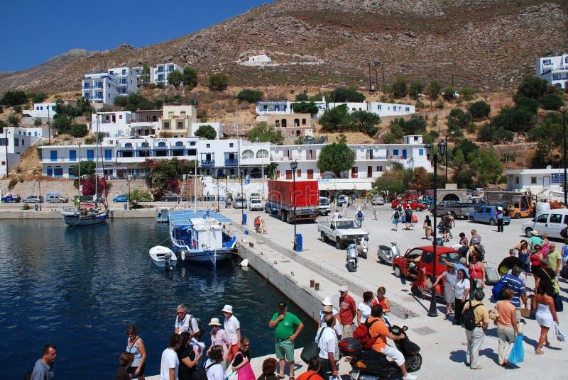 Livadia, isla de Tilos imágenes de archivo libres de regalías