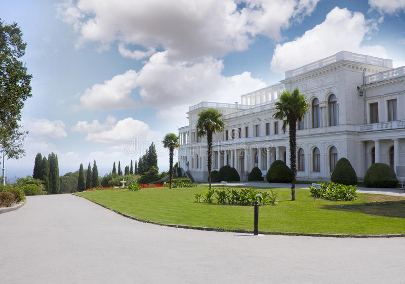 Livadia Palace. In Crimean mountains near the Black Sea royalty free stock images