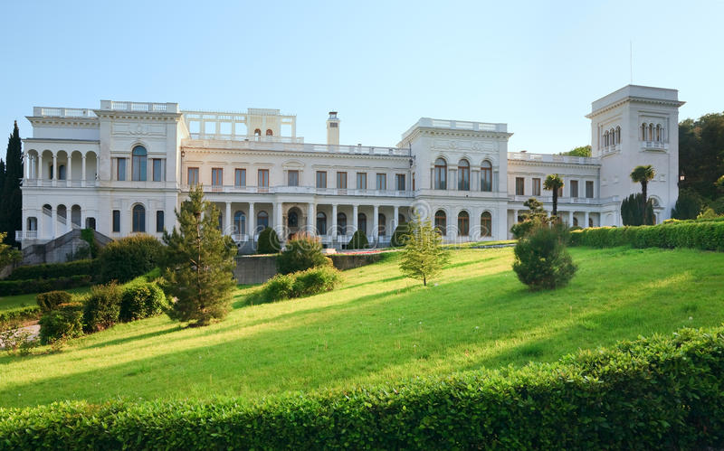 Livadia Palace in Livadiya, Crimea, Ukraine. Livadia Palace (summer retreat of the last Russian tsar, Nicholas II, and his family) in Livadiya settlement ( royalty free stock photography