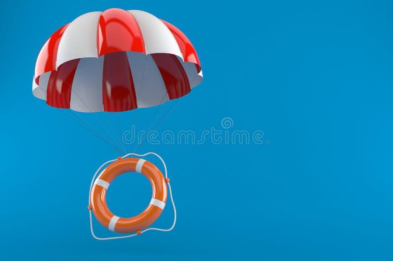 Livbojet med hoppa fallskärm vektor illustrationer