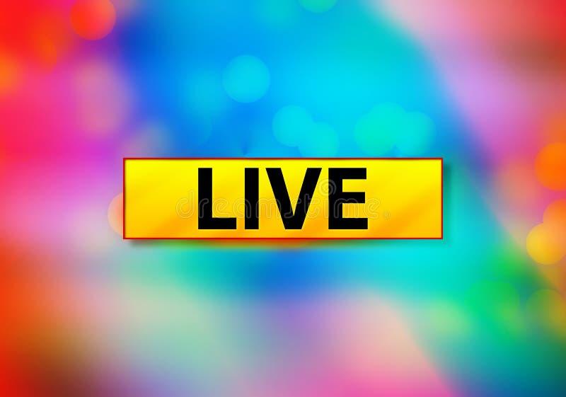 Live Abstract Colorful Background Bokeh-Ontwerpillustratie royalty-vrije illustratie