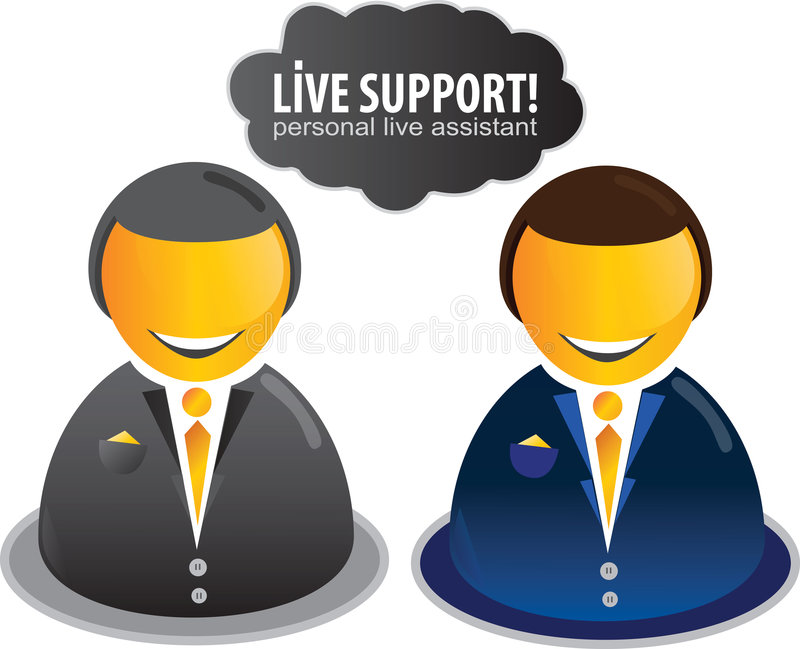 Live Assistant Icon royalty free illustration
