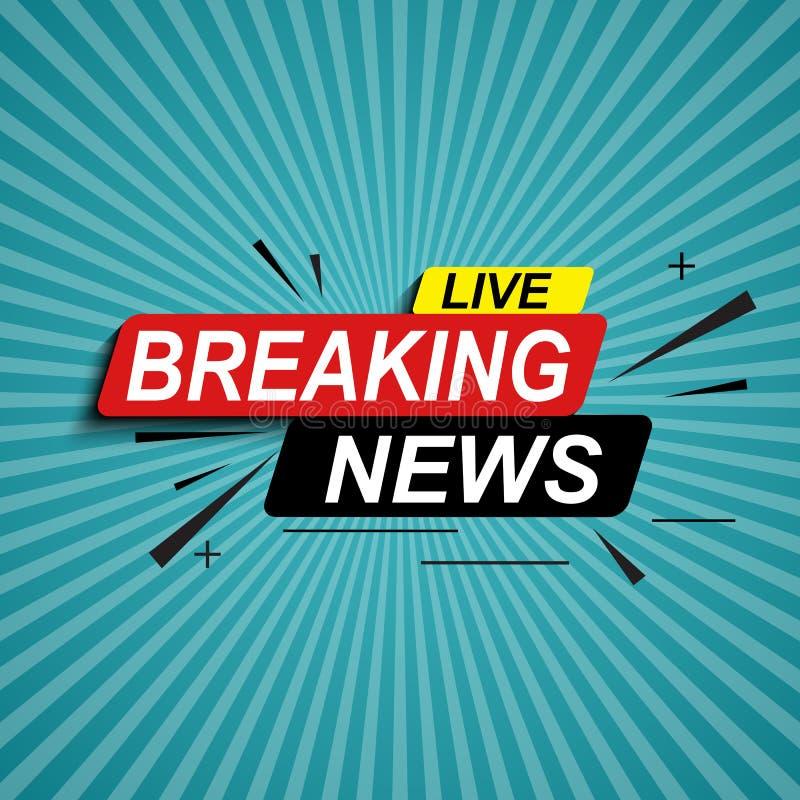 Live Breaking News Abstract Background Vector Illustratie royalty-vrije illustratie