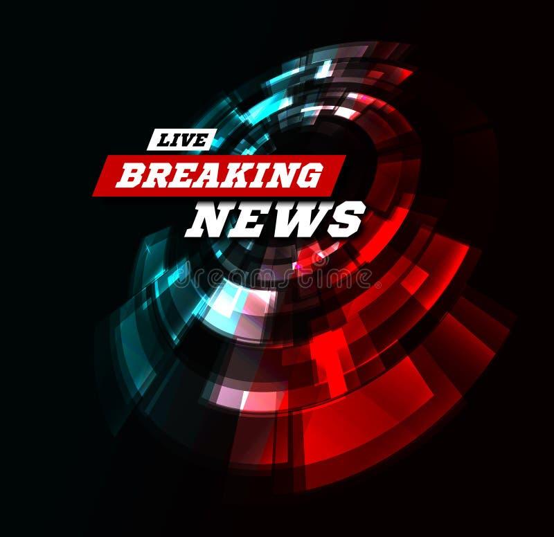 Live Breaking News Can wordt gebruikt als ontwerp voor televisienieuws of Internet-media Vector vector illustratie