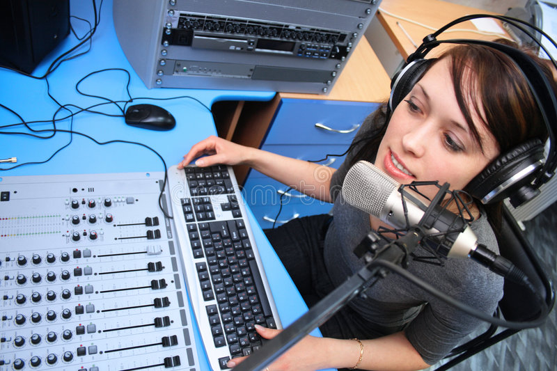 Live broadcasting royalty free stock images