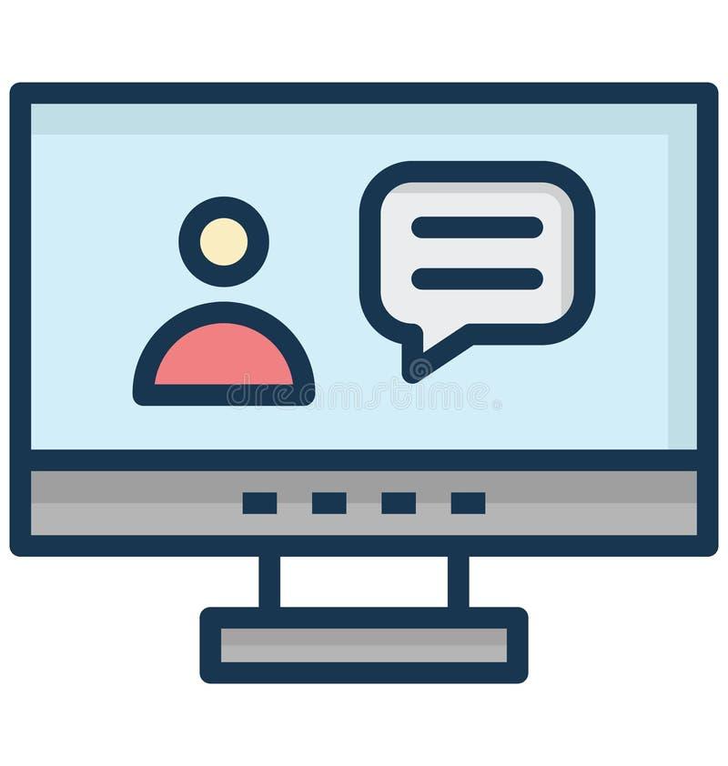 Live Call Isolated Vetora Icon isso pode facilmente ser alterado ou editado ilustração do vetor