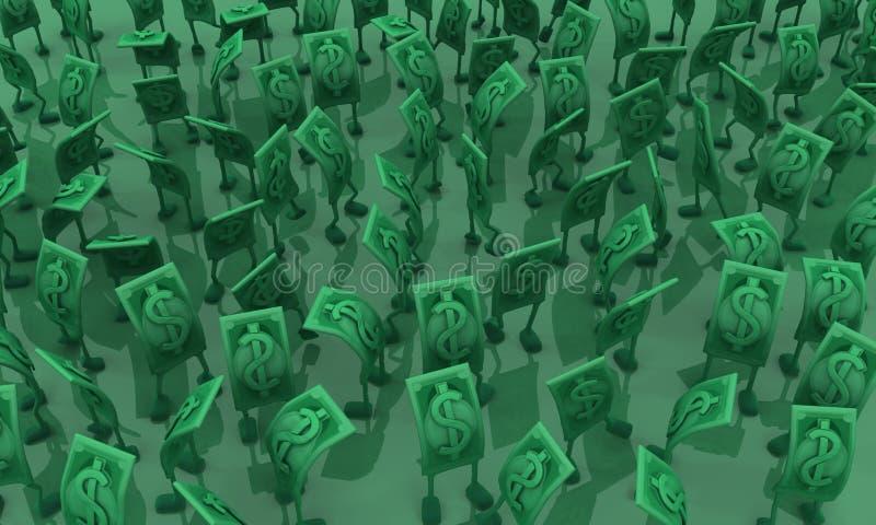 Live Cash, vert serré illustration de vecteur