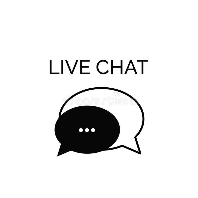 Live Chat, Call Center Telemarketing Icon Or Symbol Stock