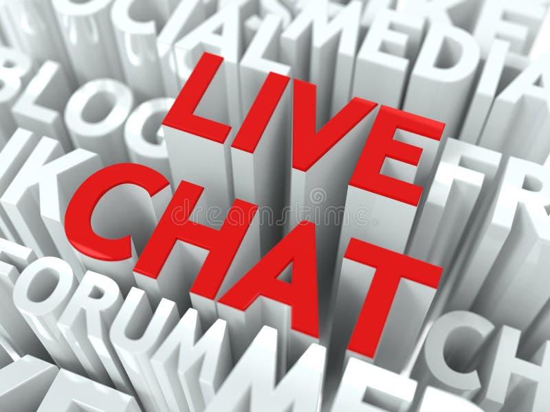 Live Chat Concept. stock illustration