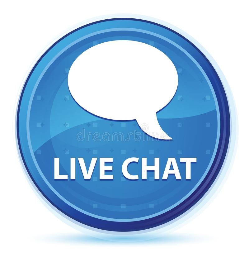 Live chat midnight blue prime round button. Live chat isolated on midnight blue prime round button abstract illustration royalty free illustration