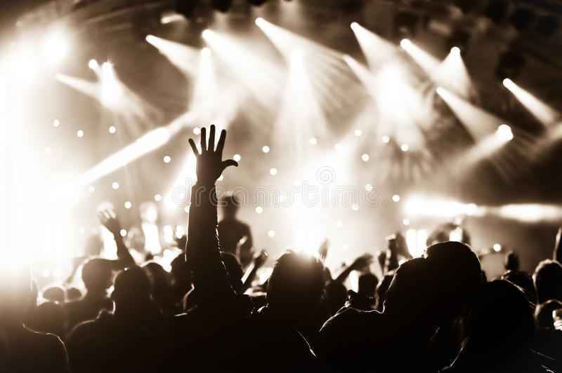 Live concert stock image