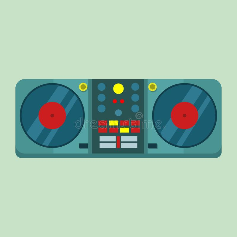 Live-Drehscheiben-Vektor-Illustrations-Grafik DJ gesetzte vektor abbildung