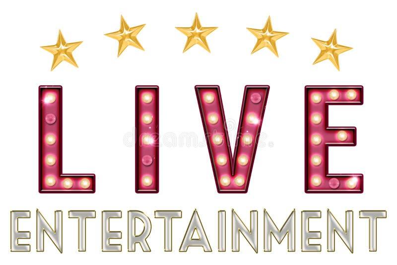Live Entertainment Word Art illustration libre de droits