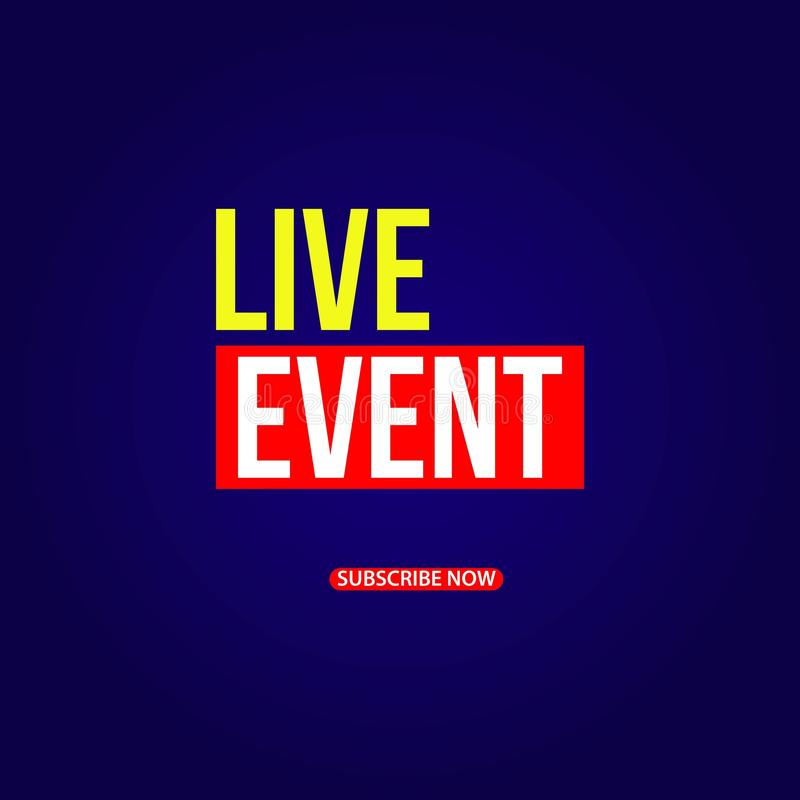Live Event Vector Template Design illustration stock illustrationer